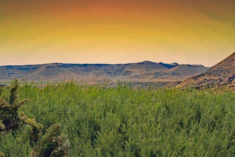 Desert sunset of south west Idaho stock photography