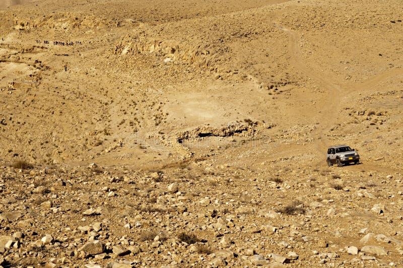 Desert SUV stock photo
