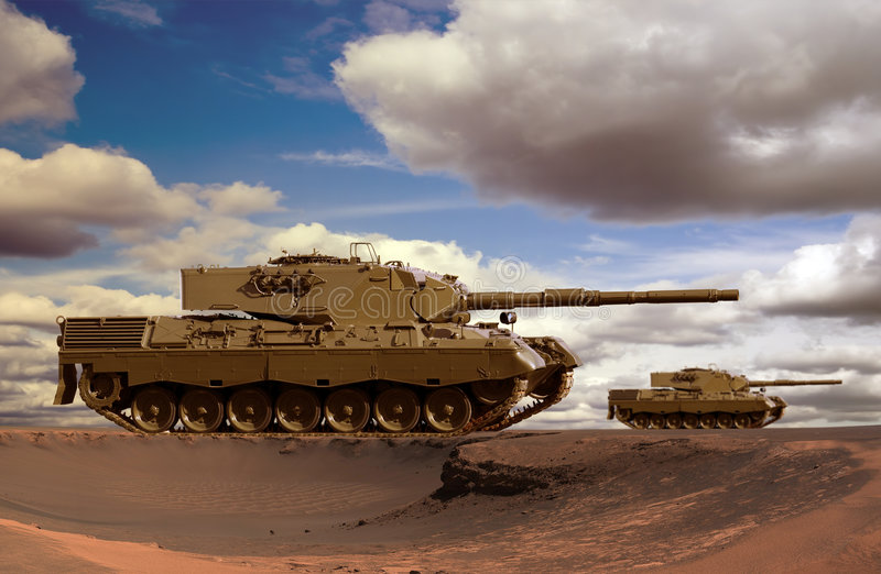 Download Desert Tanks stock image. Image of armour, drab, khaki - 3668633
