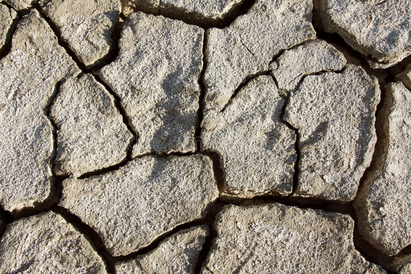 Desert texture, parched and cracked earth. Background of dry parched and cracked soil of the earth, texture of clay fissures desert stock images