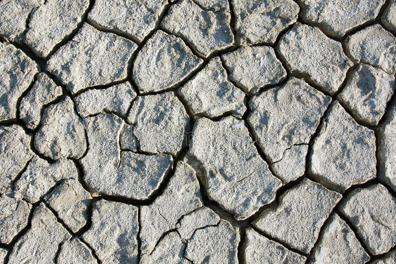 Desert texture, parched and cracked earth. Background of dry parched and cracked soil of the earth, texture of clay fissures desert stock image