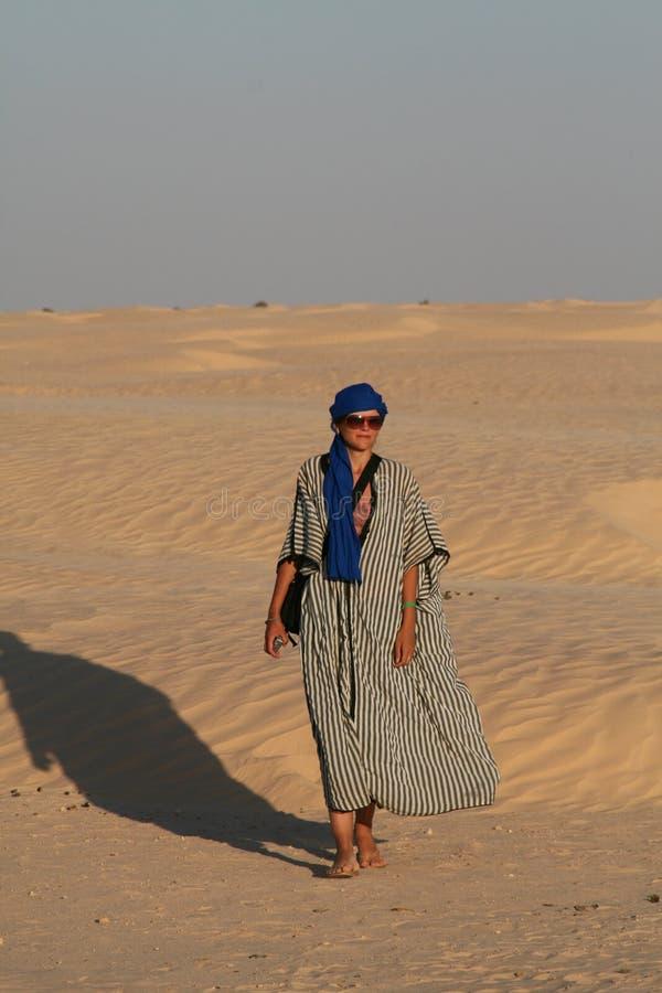 Desert Tourist Stock Photography