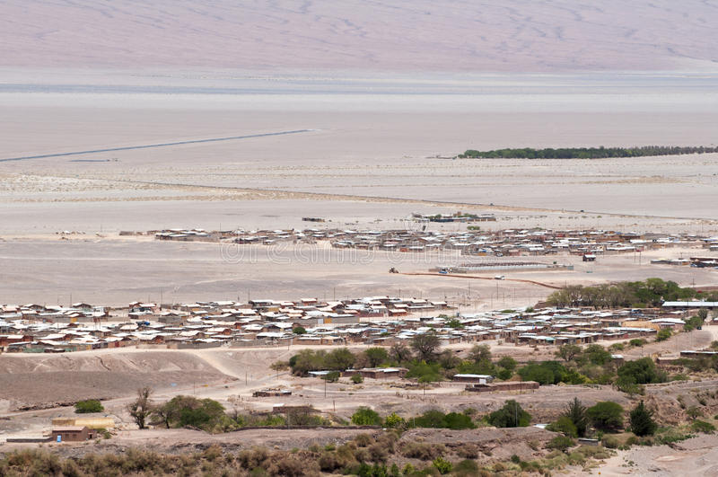 Desert town in Chile stock photo