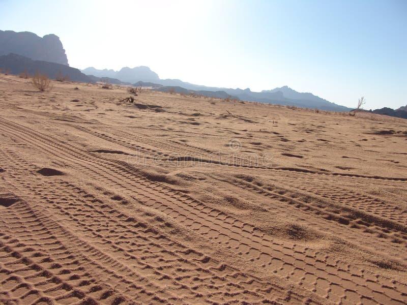 Desert tracks stock image
