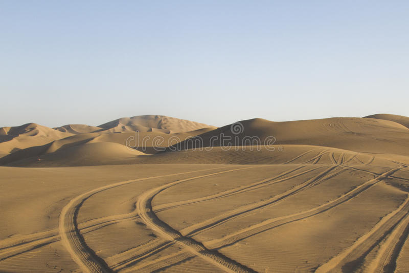 Desert tracks royalty free stock photography