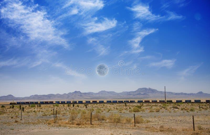 Desert Train Royalty Free Stock Photos