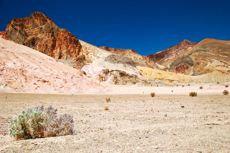 Desert under blue sky. In Death Valley. California. USA royalty free stock photography