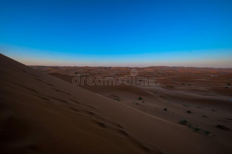 Desert Under Blue Sky View stock image