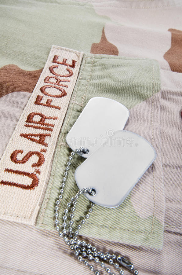 Download Desert Uniform And Dog Tags Stock Image - Image: 32851675