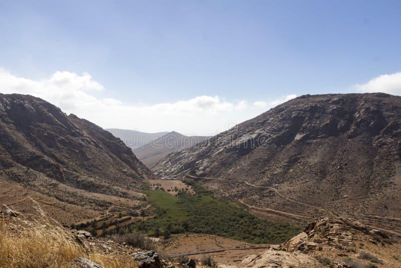 Desert valley in Fuerteventura royalty free stock image