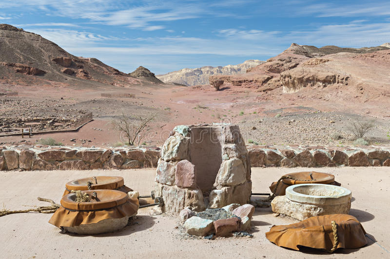 Desert valley of Timna, Israel royalty free stock photo