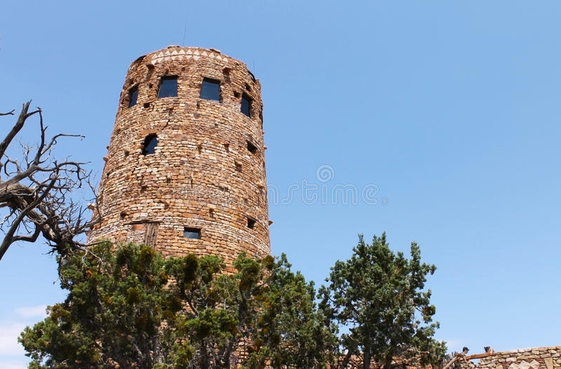 Desert View Watch Tower. In Grand Canyon National park royalty free stock images
