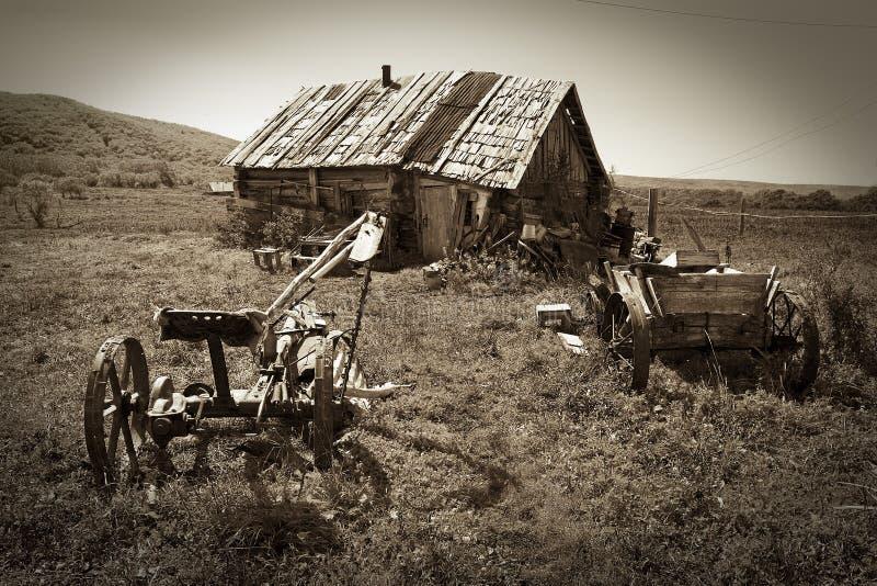 Desert village (sepia) 5 stock photography