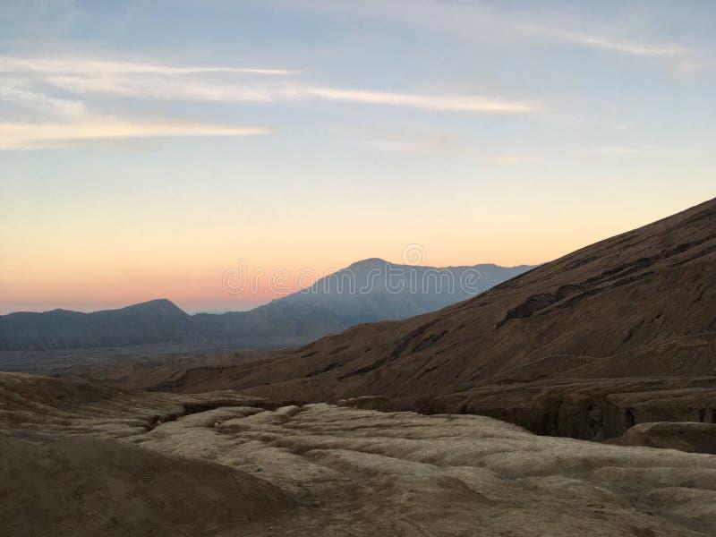 Desert of Volcanic Ash. Taken near Mount Bromo stock photo