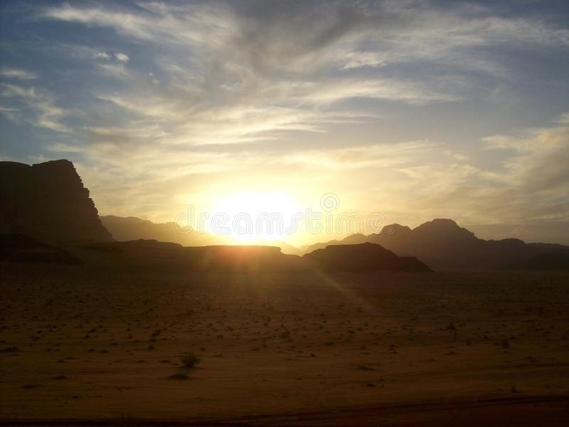 The desert of Wadi Rum Jordan stock photography