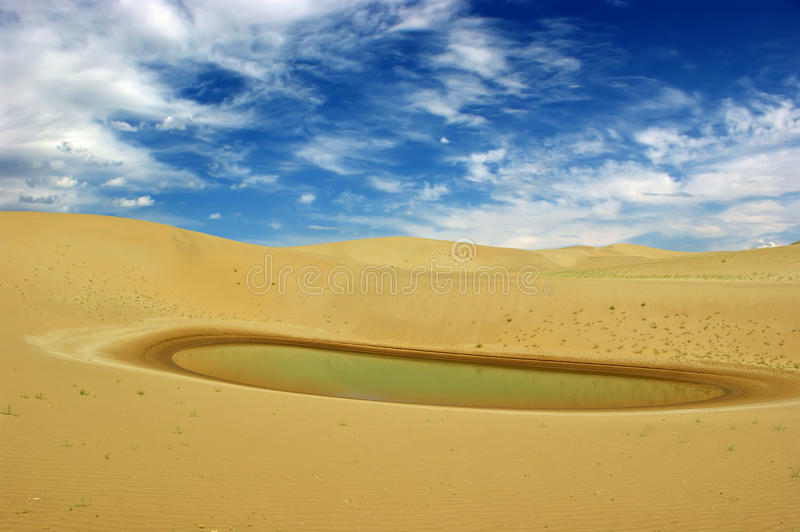 Desert and water royalty free stock image