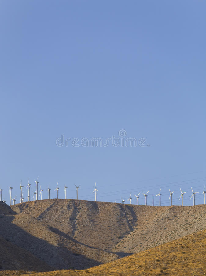 Desert Wind Energy royalty free stock images