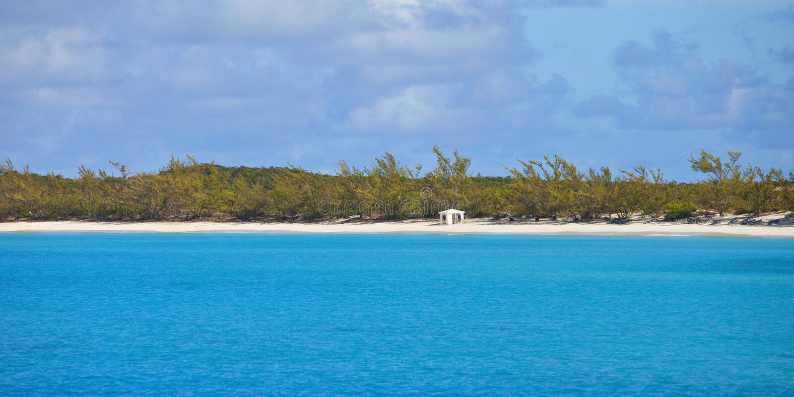 Download Deserted beach in bahamas stock photo. Image of travel - 28180410