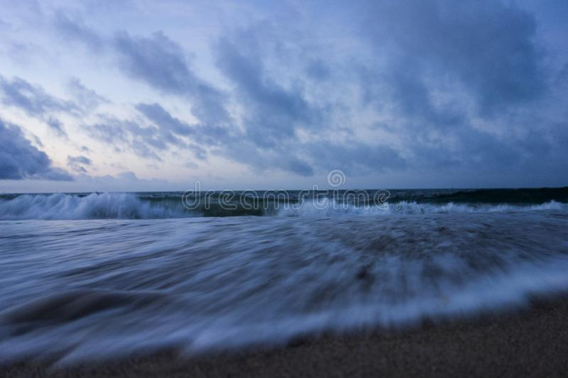 A beach in the early morning stock photography