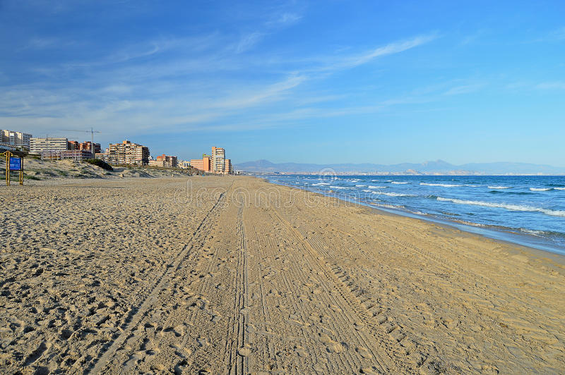 A Deserted Beach royalty free stock photos