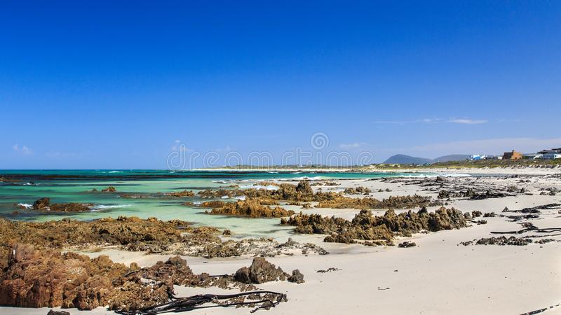 Deserted beach - Pearly beach - South Africa. Pearly Beach is a remote seaside hamlet in Overberg District Municipality in the Western Cape Province of South stock photo