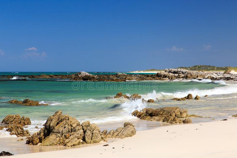 Deserted beach - Pearly beach - South Africa stock photo
