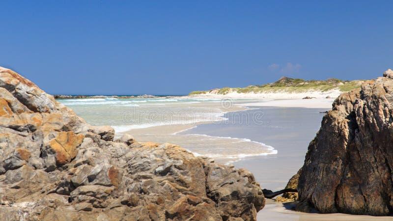 Deserted beach - Pearly beach - South Africa stock photos