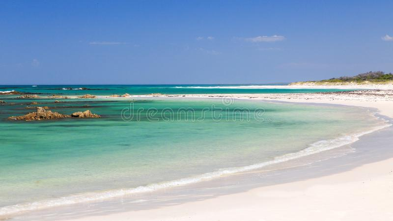 Deserted beach - Pearly beach - South Africa. Pearly Beach is a remote seaside hamlet in Overberg District Municipality in the Western Cape Province of South royalty free stock images