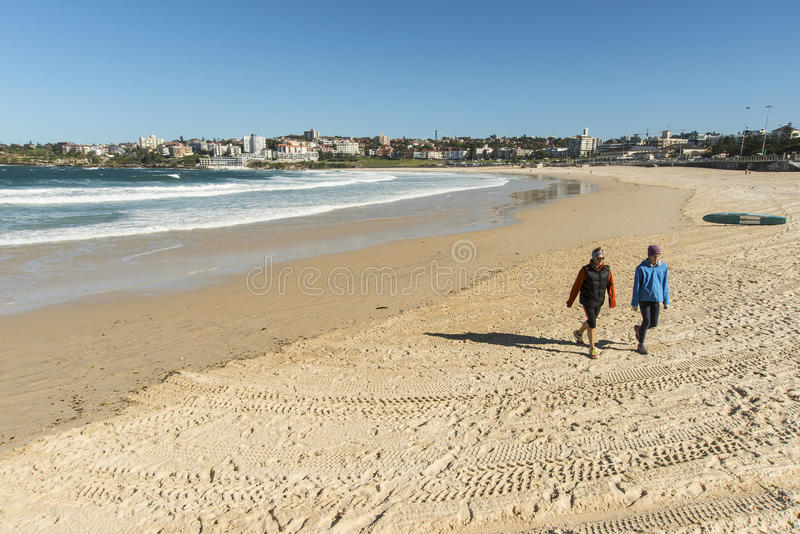 Bondi Beach Deserted stock photos