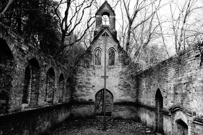 Deserted Church stock image
