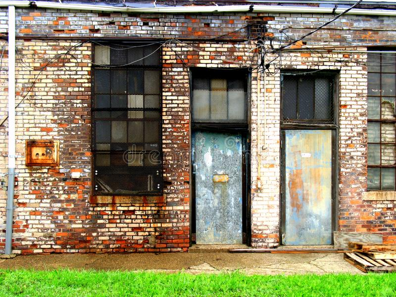 Deserted doorways royalty free stock image