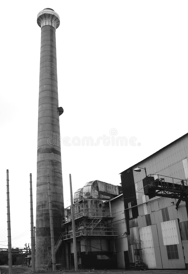 Deserted Factory royalty free stock photo
