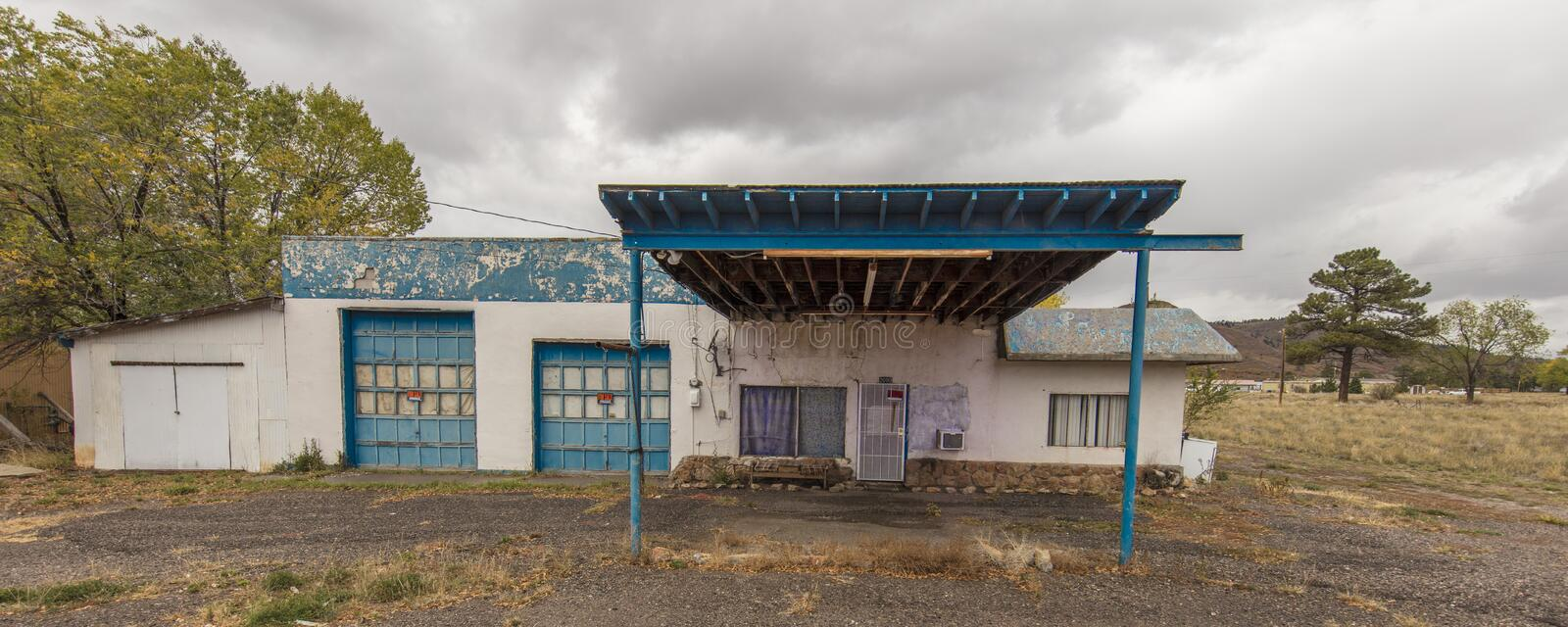 Deserted gas station, Chama New Mexico stock photos