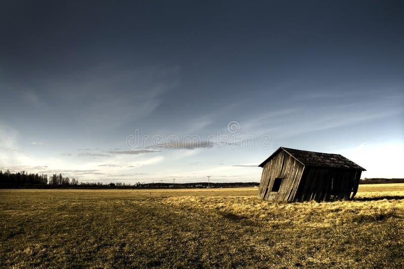 Deserted haunted house stock photo