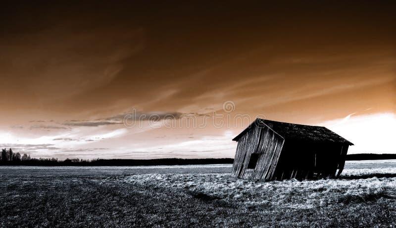 Deserted haunted house stock image