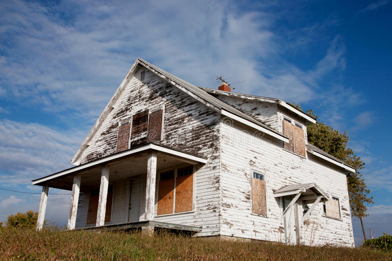 Download Deserted house stock photo. Image of white, board, paint - 26129884