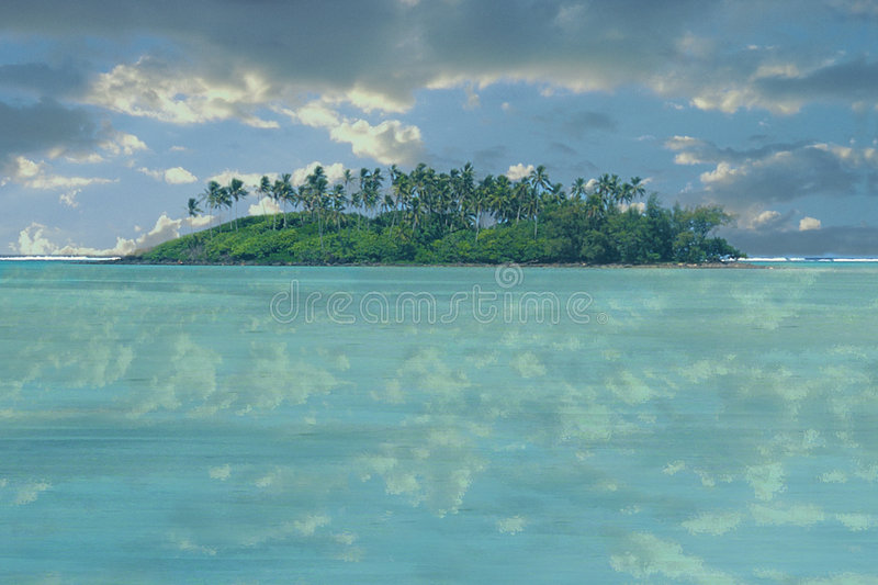 Deserted Island stock photo