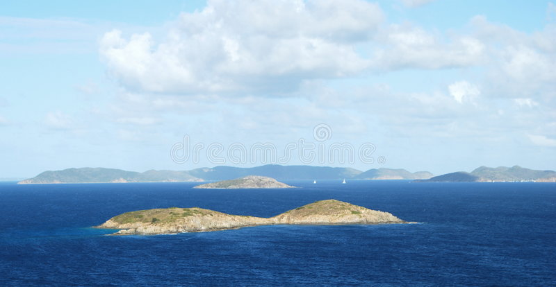 Deserted Island in the Caribbean royalty free stock photos