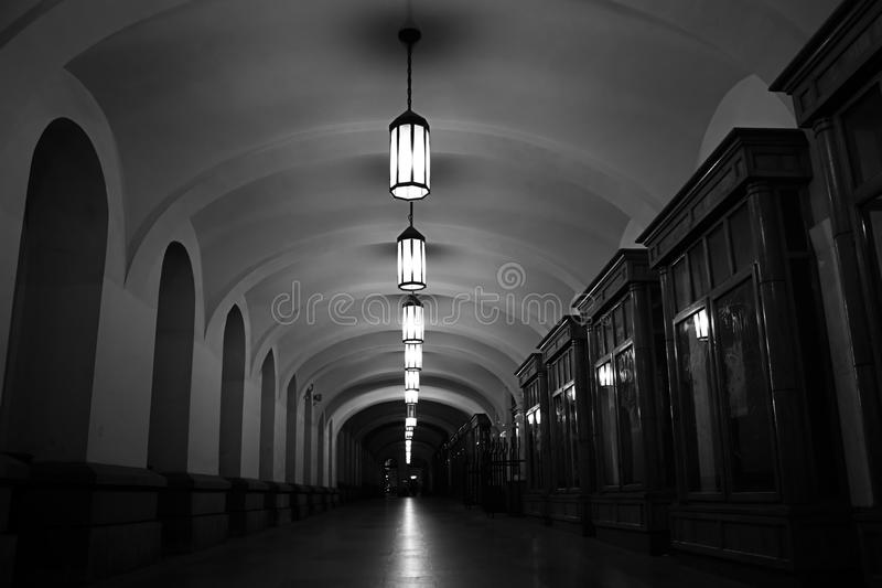 Deserted passageway royalty free stock images