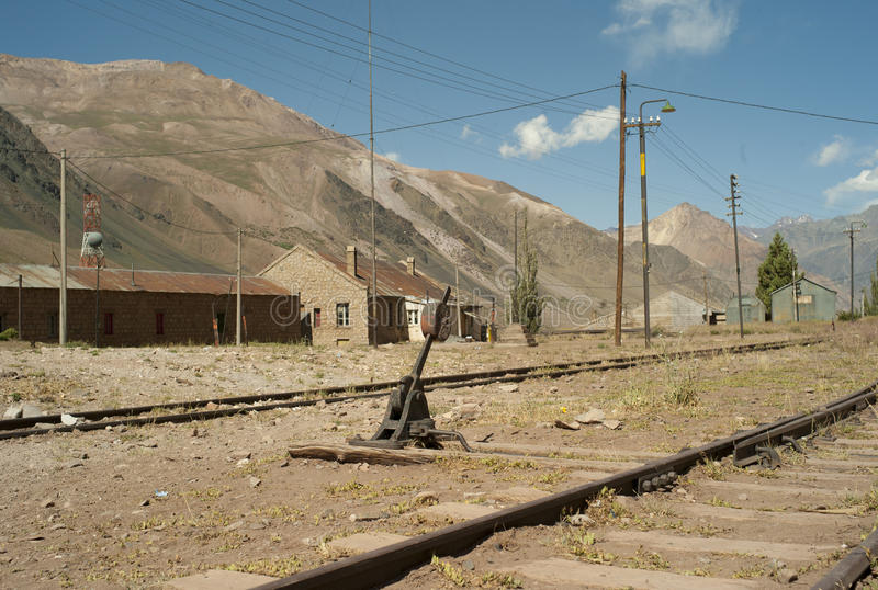 Deserted rail road stock photo