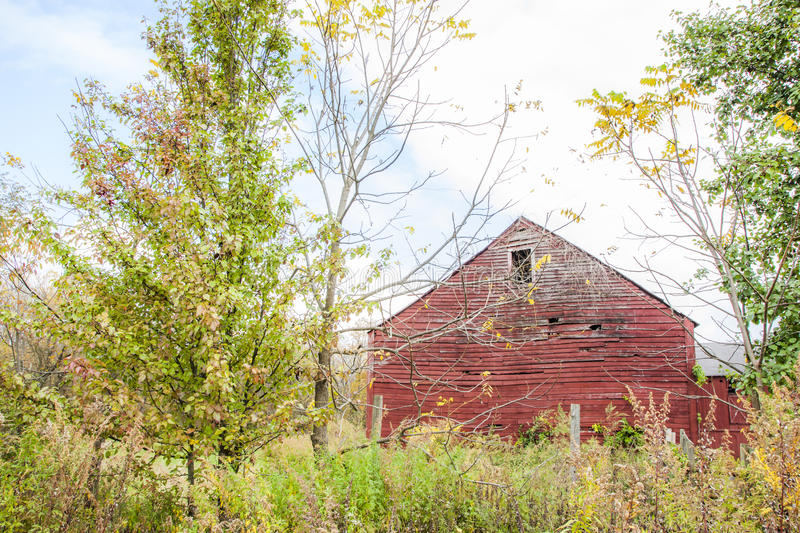 Deserted Red Barn Royalty Free Stock Photography