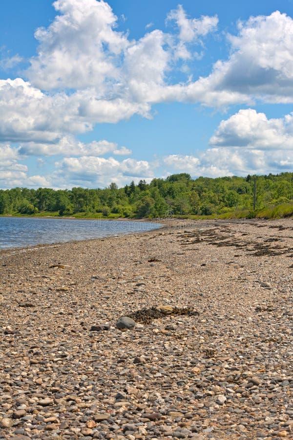 Deserted Rocky Beach Stock Photo