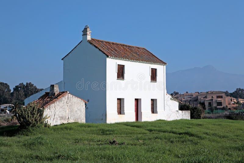 Deserted run down villa in Spain stock photography