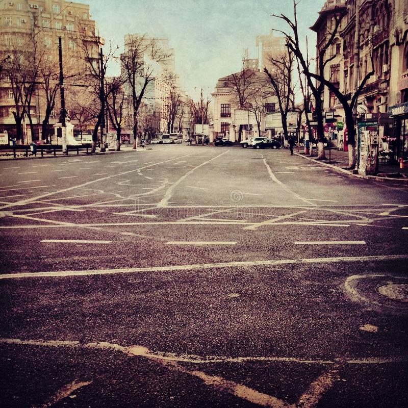 deserted street στοκ εικόνα με δικαίωμα ελεύθερης χρήσης
