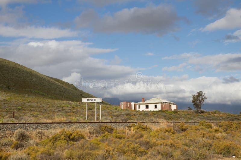 Deserted train station stock image