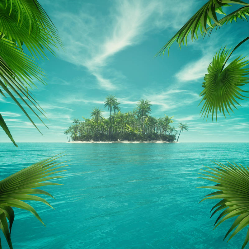 Free Deserted Tropical Paradise Stock Images - 78279494