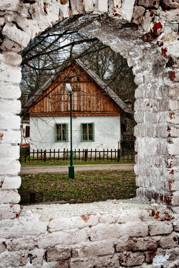 Download Deserted Village House And Ruins Stock Photo - Image: 27391474