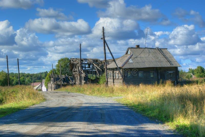 The deserted village, Karelia, Russia stock photos