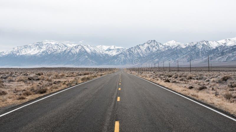 Desertera huvudvägen royaltyfria foton