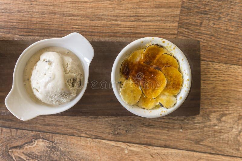 Deserti deliziosi della banana immagini stock libere da diritti